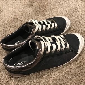 Coach Sneakers six 9.5 Black and Silver